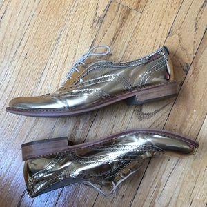 Sam Edelman Gold Oxford Shoes Size 9.5